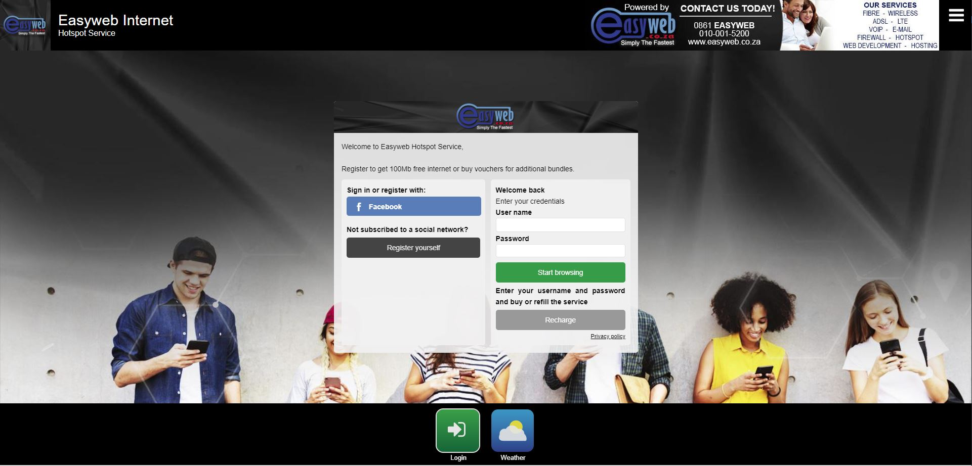 Easyweb Internet HOTSPOT